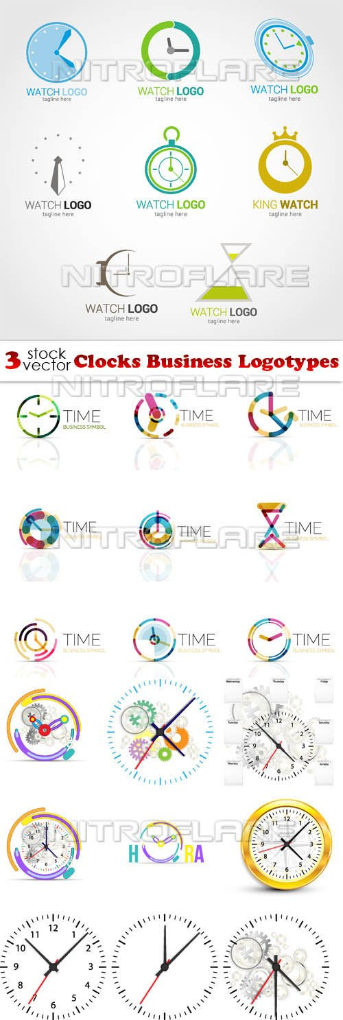 Vectors - Clocks Business Logotypes