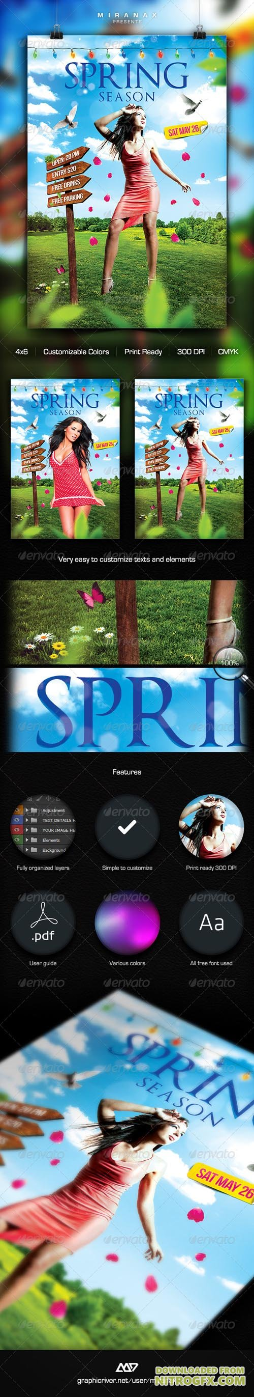 Spring Break - Summer Party Flyer Template 7329134