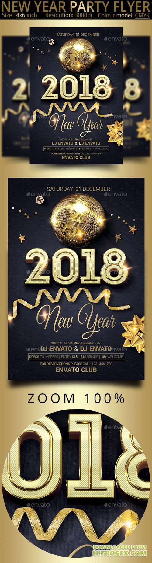 New Year Party Flyer 20772387