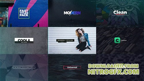 Fast Titles 20532602 - Project for After Effects (Videohive)