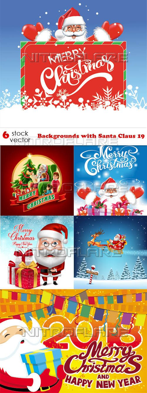 Vectors - Backgrounds with Santa Claus 19