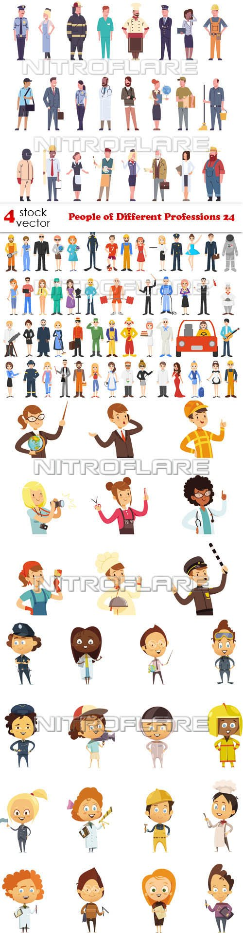 Vectors - People of Different Professions 24