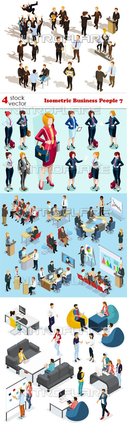 Vectors - Isometric Business People 7