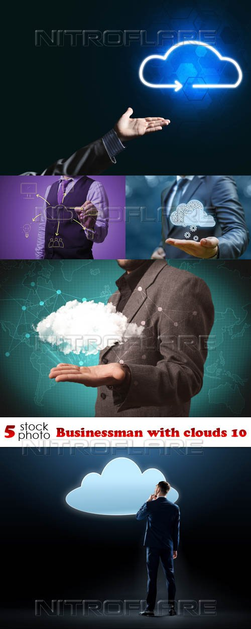 Photos - Businessman with clouds 10