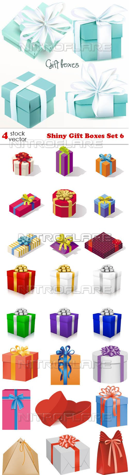Vectors - Shiny Gift Boxes Set 6