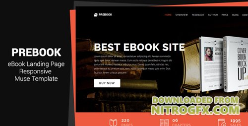 ThemeForest - Prebook v1.0 - eBook Landing Page Responsive Adobe Muse Template - 20689088