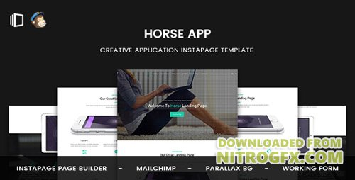 ThemeForest - Horse App v1.0 - Application Instapage Template - 20622298