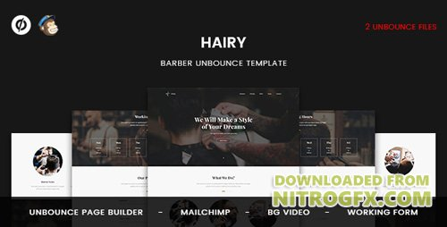 ThemeForest - Hairy v1.0 - Barber Unbounce Template - 20516964