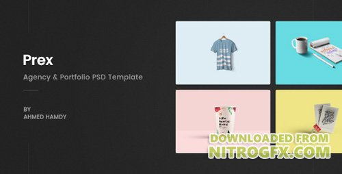 Themeforest prex v1 0 creative agency portfolio psd for Pr portfolio template