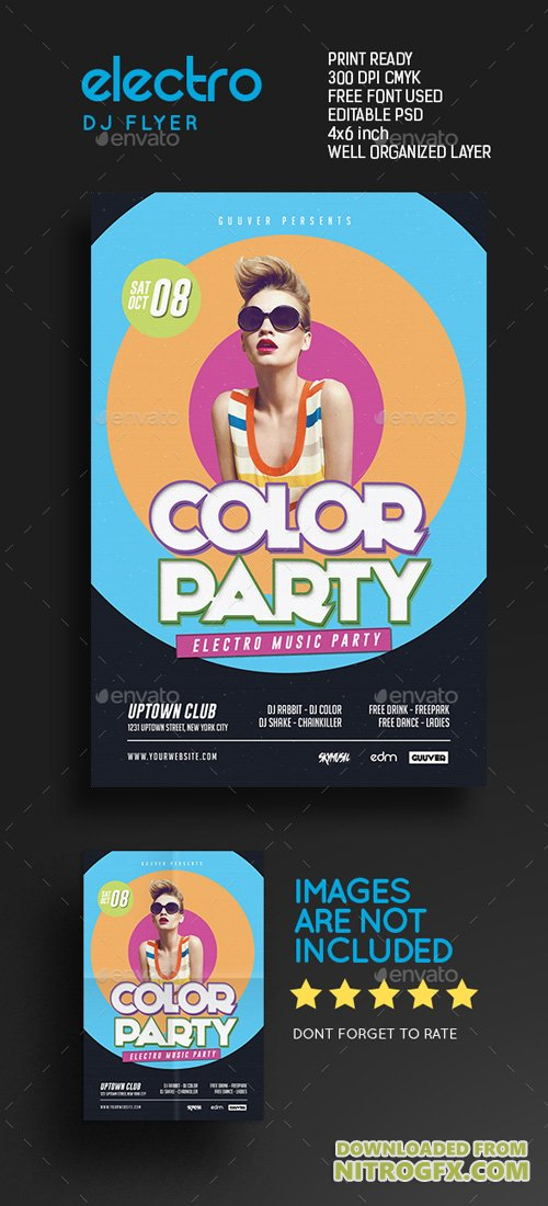 Retro Electro Color Dj Party 17674307
