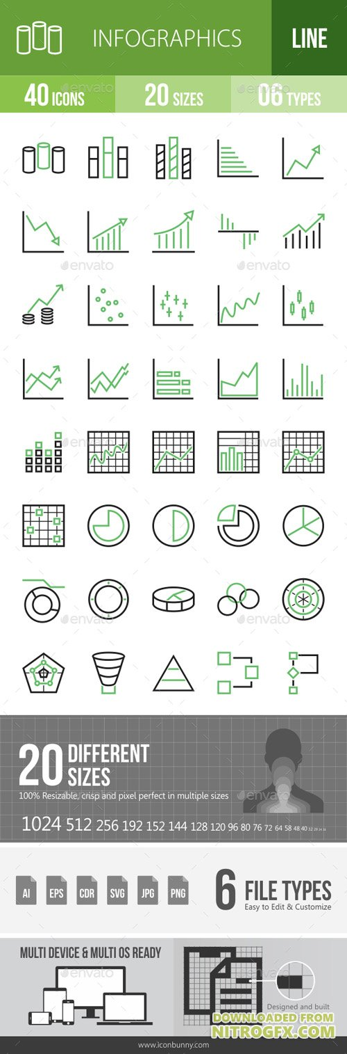 Infographics Line Green & Black Icons 15562811
