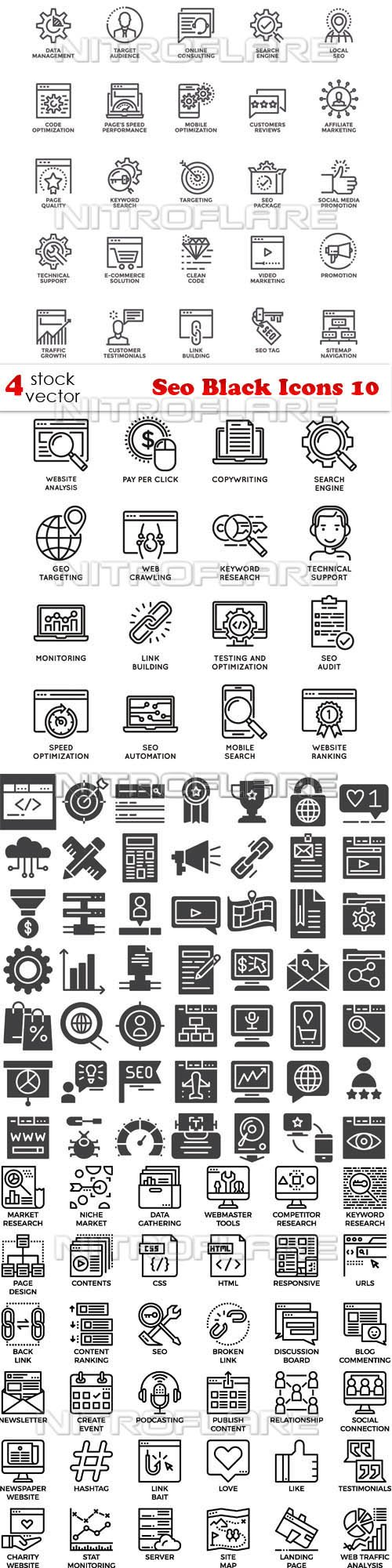 Vectors - Seo Black Icons 10