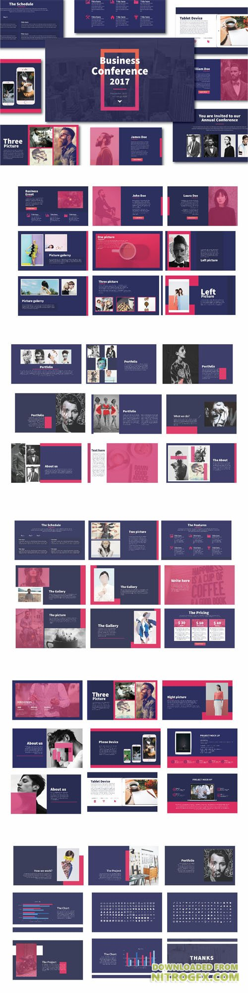 Blues Multipurpose Template PPT