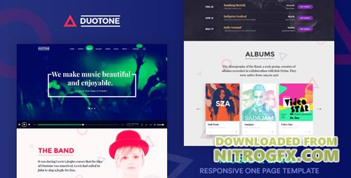 ThemeForest - Music & Band Responsive Website Template - Duotone v1.1 - 19922543