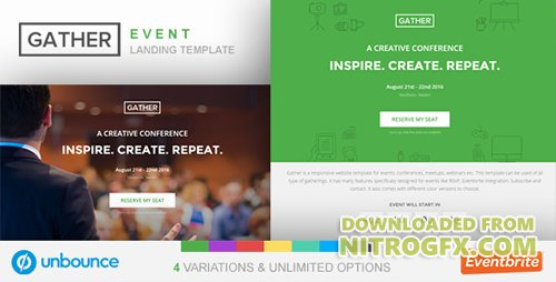 ThemeForest - Unbounce Event Landing Page Template - Gather v1.0 - 18416718