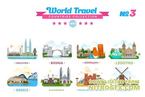 World Travel Countries Collection 3