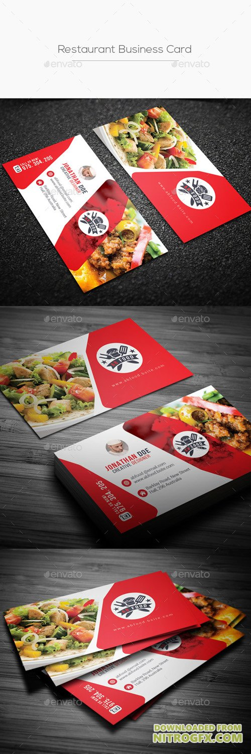 Restaurant Business Card 20824578