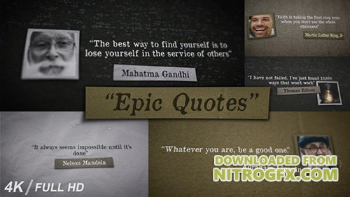 Epic Quotes - Project for After Effects (Videohive)