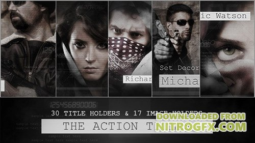 The Action Titles - Project for After Effects (Videohive)