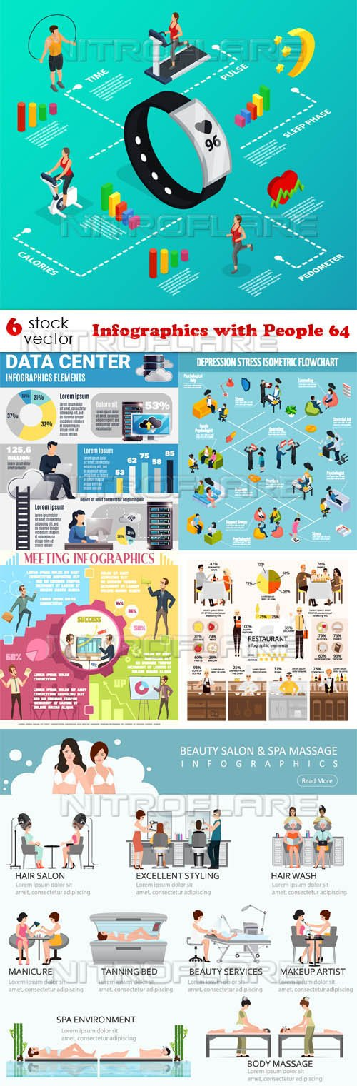 Vectors - Infographics with People 64