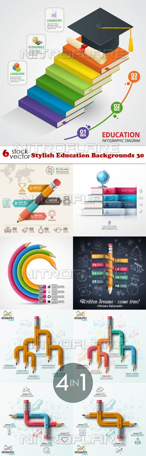 Vectors - Stylish Education Backgrounds 30
