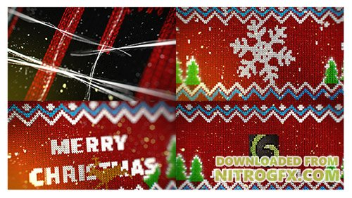Knitted Christmas Sweater Logo Reveal - Project for After Effects (Videohive)