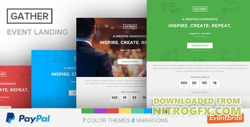 ThemeForest - Event Landing Page Template - Gather v1.0 - 12137712