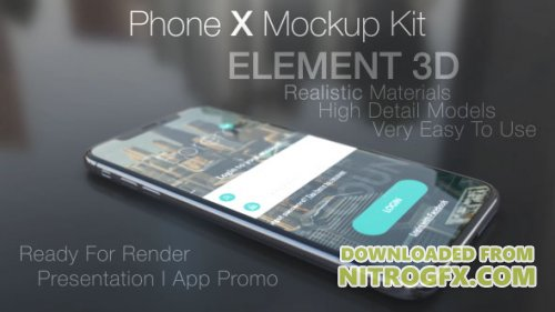 Phone X Mockup Kit - Project for After Effects (Videohive)