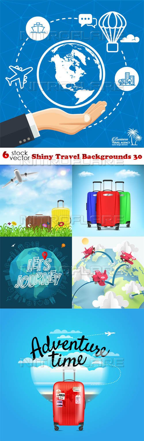 Vectors - Shiny Travel Backgrounds 30