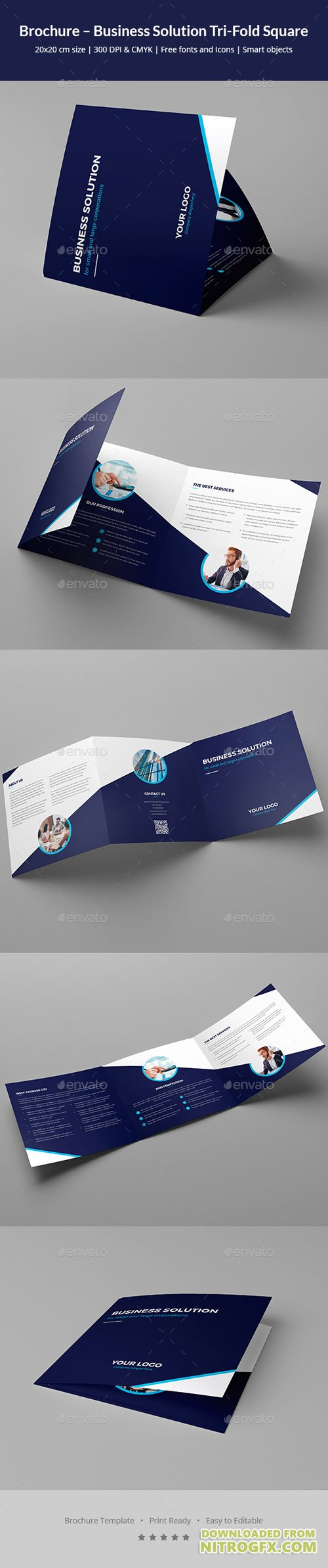 Brochure – Business Solution Tri-Fold Square 20847452