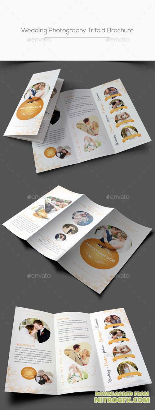 GR - Wedding Photography Trifold Brochure 20836672