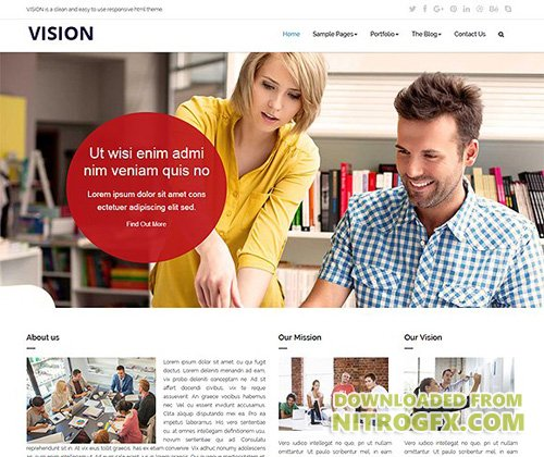 VISION - Responsive HTML Template - CM 1984094