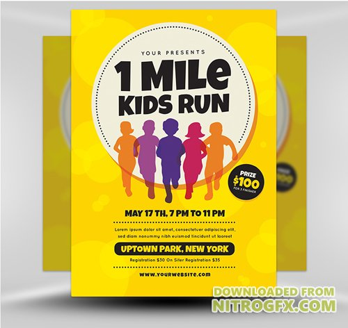 Flyer Template - 1 Mile Kids Run v1
