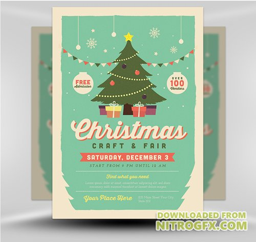 Flyer Template - Christmas Fair 2017