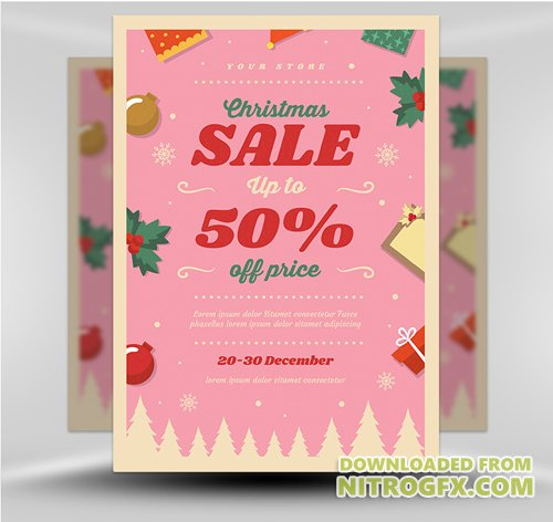 Flyer Template - Christmas Sale 2017