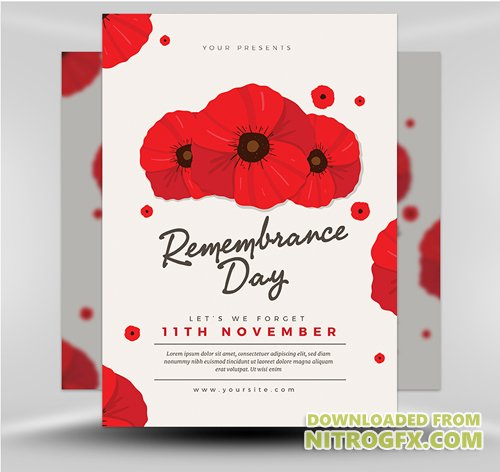 Flyer Template - Remembrance Day 2017