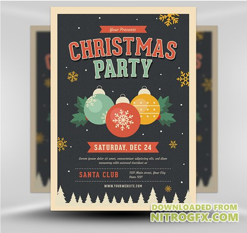 Flyer Template - Jingle Bells Christmas Party