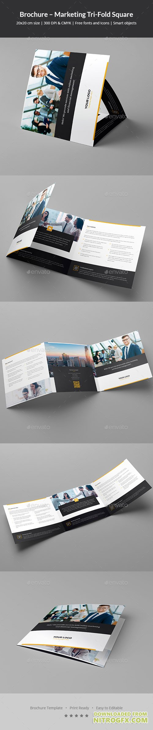 Brochure – Marketing Tri-Fold Square 20859823