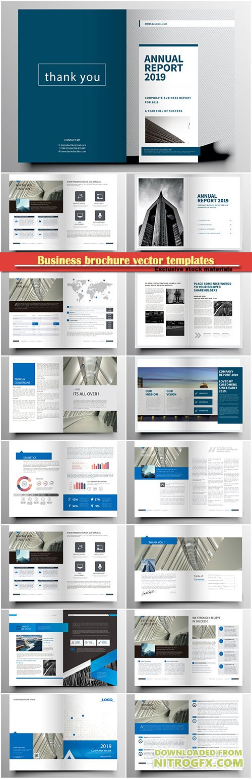 Business brochure vector templates, magazine cover, business mockup, education, presentation, report # 70