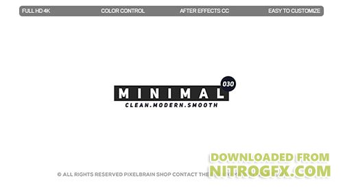 Minimal Titles II - Project for After Effects (Videohive)