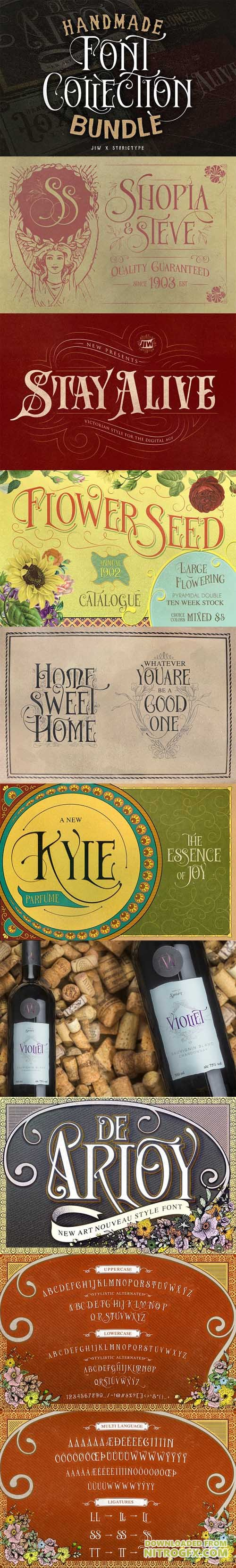 Handmade Font Collection Bundle 1797457