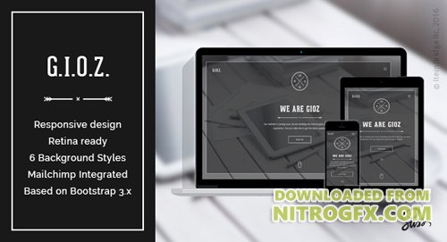 ThemeForest - Gioz v1.0.4 - Creative Coming Soon & Maintenance Mode Template - 19130637