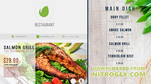 Restaurant Digital Food Menu - Project for After Effects (Videohive)