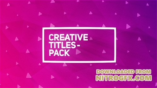 Creative Titles Package - Project for After Effects (Videohive)