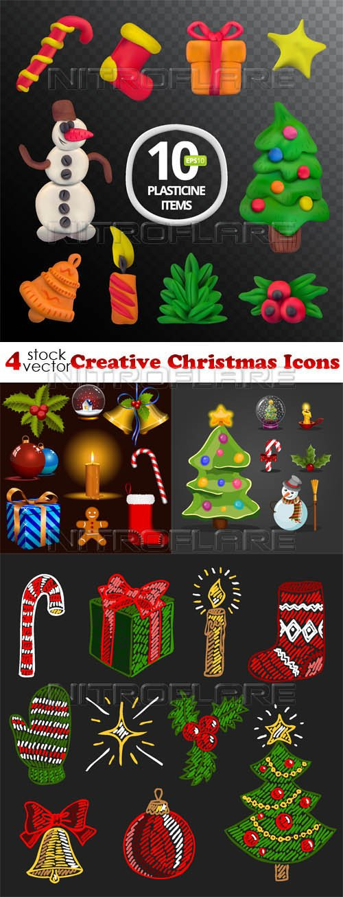 Vectors - Creative Christmas Icons