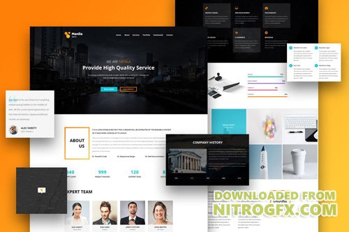 Manila - One Page PSD Template