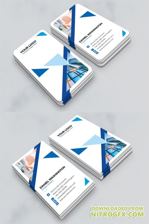 Business Card - Triangle Multipurpose Vertical