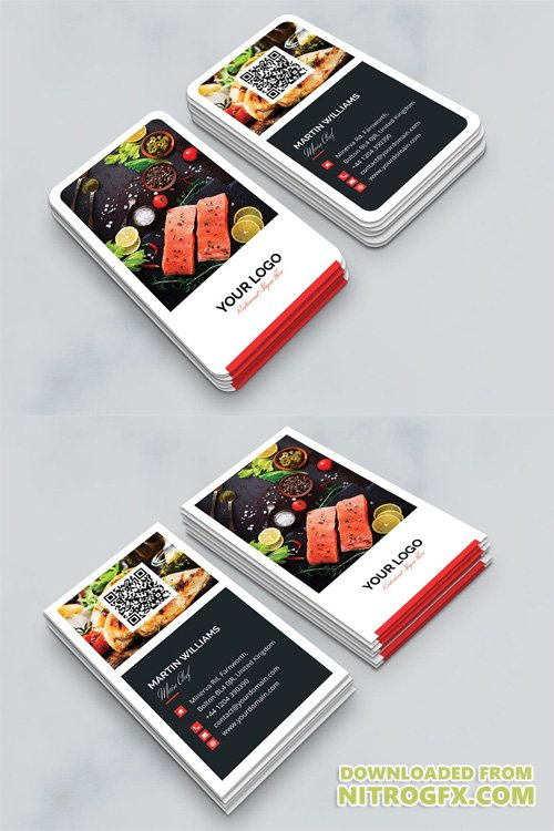 Business Card - Restaurant Vertical