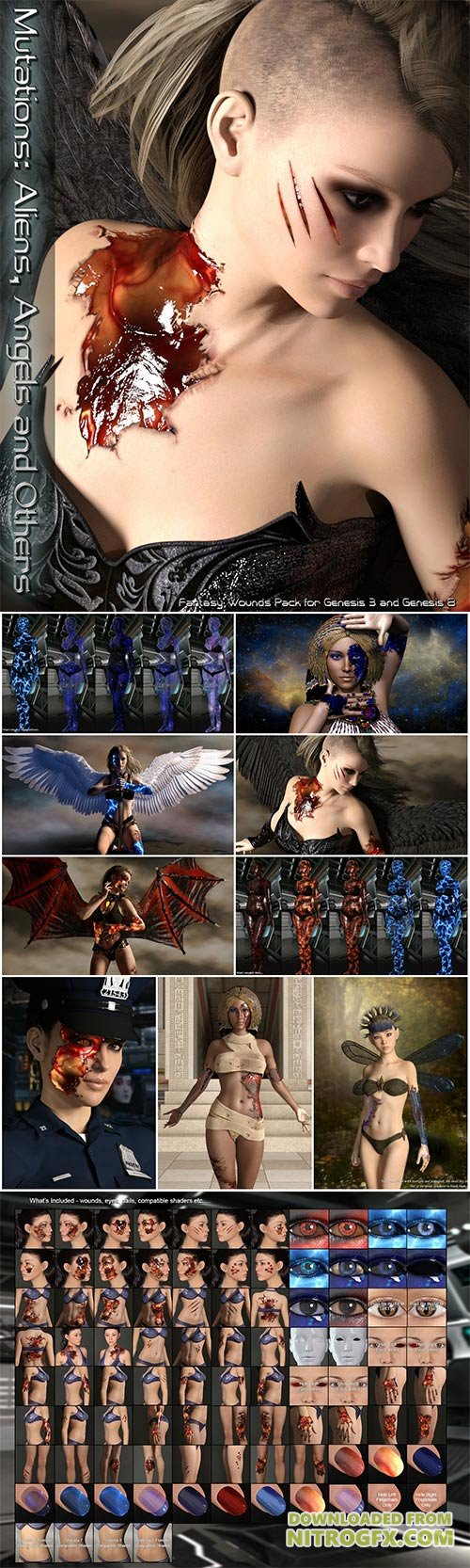MRL Mutations: Aliens, Angels and Others for Genesis 3 and 8 Female(s)