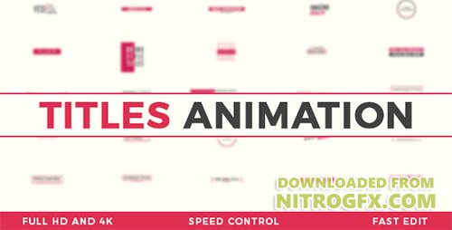 Titles Animation 20676995 - Project for After Effects (Videohive)